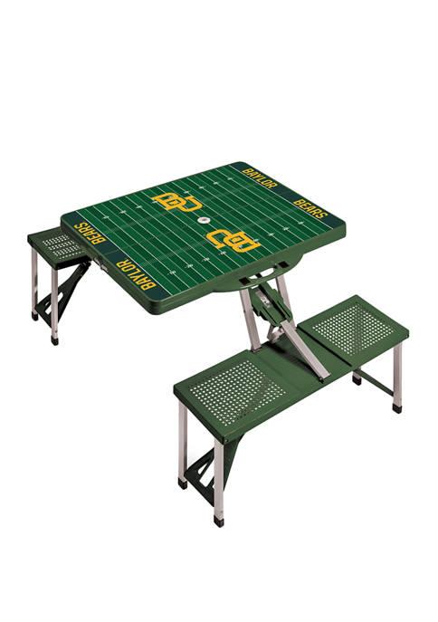 NCAA Baylor Bears Picnic Table Portable Folding Table with Seats