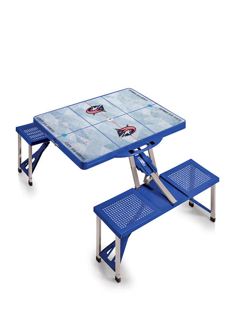NHL Columbus Blue Jackets Picnic Table Portable Folding Table with Seats
