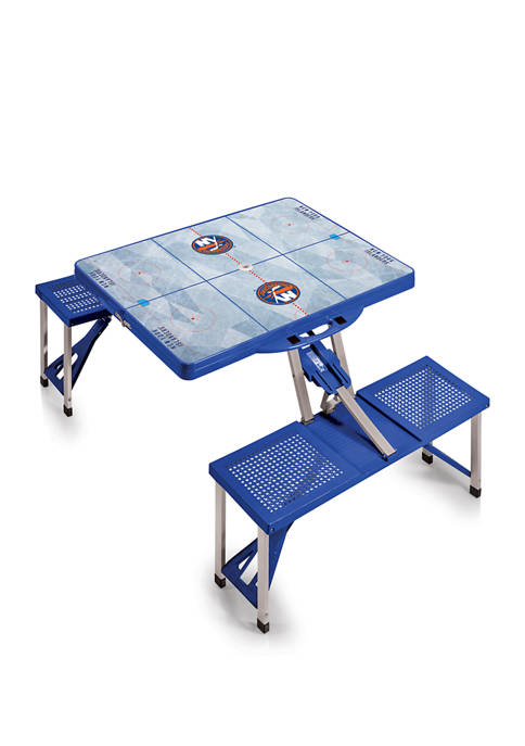 NHL New York Islanders Picnic Table Portable Folding Table with Seats