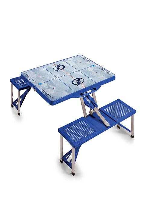 NHL Tampa Bay Lightning Picnic Table Portable Folding Table with Seats