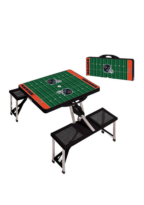 NFL Chicago Bears Picnic Table Portable Folding Table with Seats