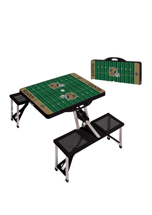 ONIVA NFL New Orleans Saints Picnic Table Portable