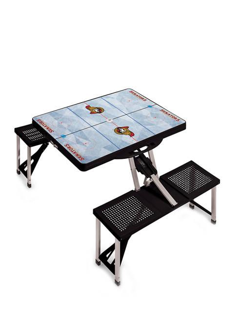 NHL Ottawa Senators Picnic Table Portable Folding Table with Seats