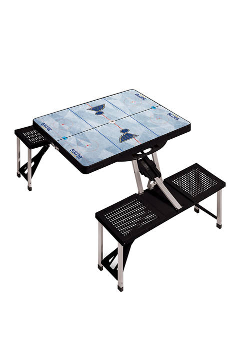 NHL St. Louis Blues Picnic Table Portable Folding Table with Seats
