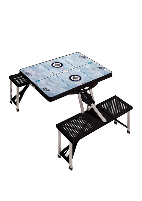 NHL Winnipeg Jets Picnic Table Portable Folding Table with Seats