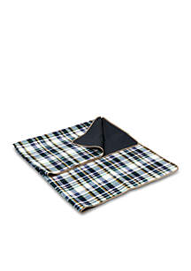 Blanket Tote English Camel Plaid