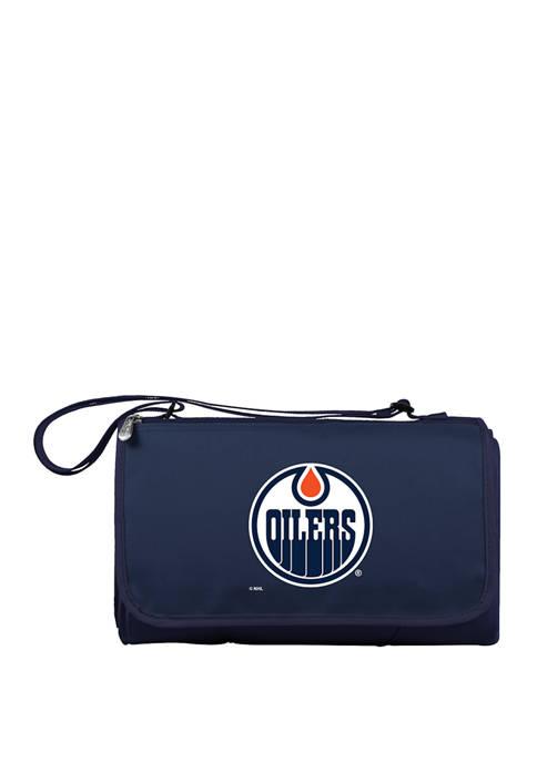NHL Edmonton Oilers Blanket Tote Outdoor Picnic Blanket