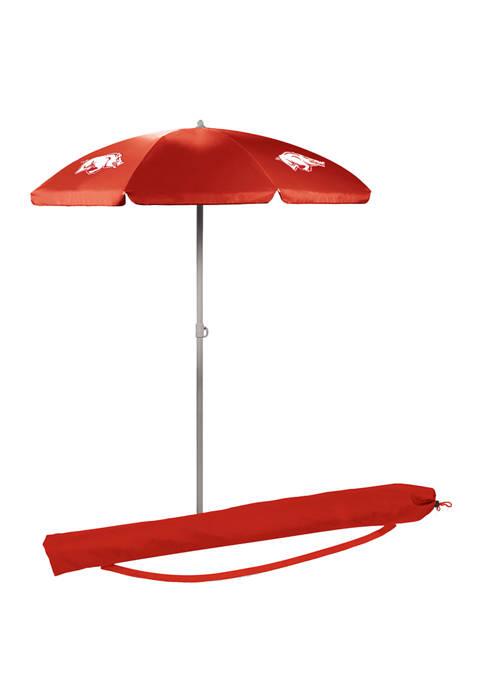 NCAA Arkansas Razorbacks 5.5 ft Portable Beach Umbrella
