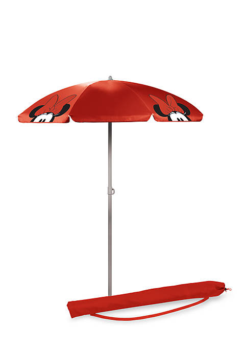 Picnic Time Minnie Mouse Red Portable Beach Umbrella