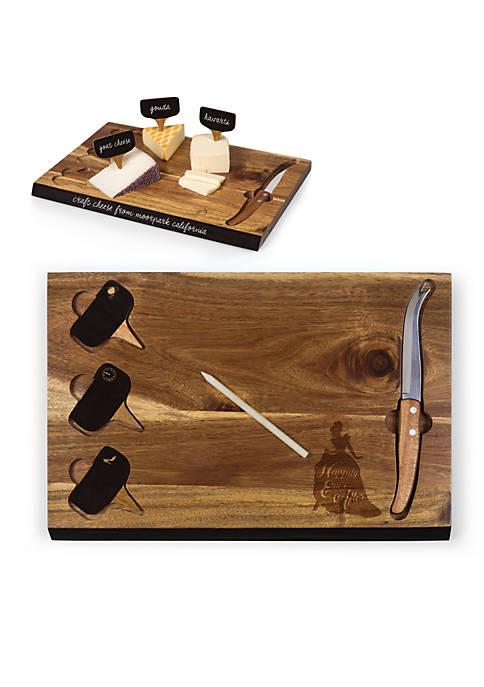 Cinderella - Delio Acacia Cheese Board & Tools Set by Picnic Time (Acacia)