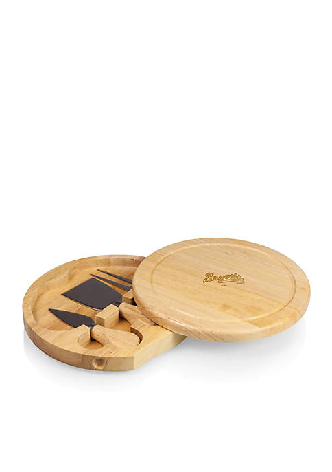 Picnic Time Atlanta Braves Brie Cheese Board And