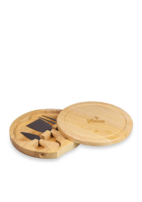 Minnesota Vikings Brie Cheese Board and Tools Set