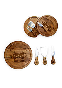 Mickey and Minnie Mouse - 'Acacia Brie' Cheese Board and Tools Set