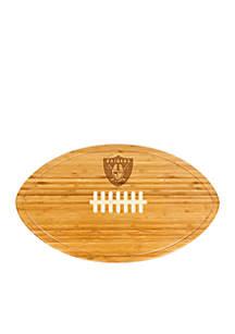 Oakland Raiders Kickoff Bamboo Serving Tray