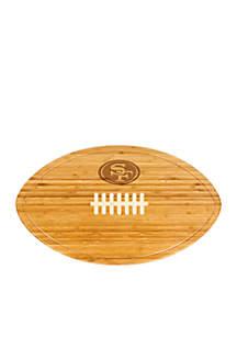 San Francisco 49ers Kickoff Bamboo Serving Tray