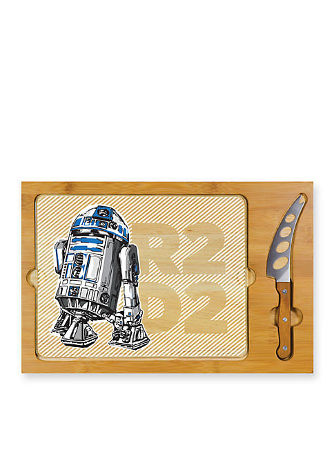 R2-D2 Icon Glass Top Serving Tray and Knife Set