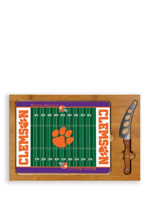 NCAA Clemson Tigers Icon Glass Top Cutting Board & Knife Set