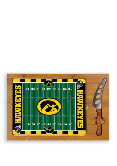 NCAA Iowa Hawkeyes Icon Glass Top Cutting Board & Knife Set