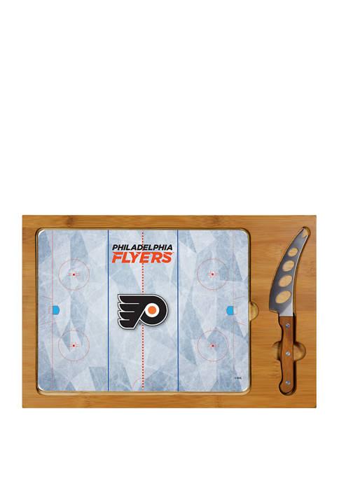 NHL Philadelphia Flyers Icon Glass Top Cutting Board & Knife Set