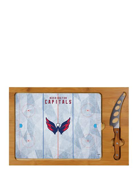 NHL Washington Capitals Icon Glass Top Cutting Board & Knife Set
