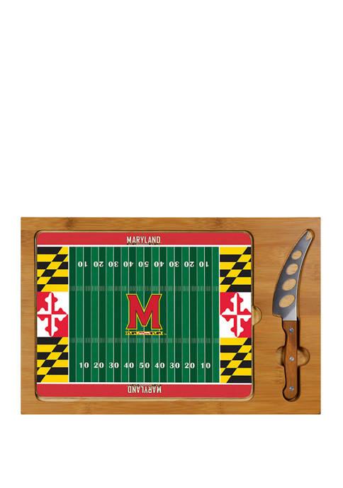 NCAA Maryland Terrapins Icon Glass Top Cutting Board & Knife Set