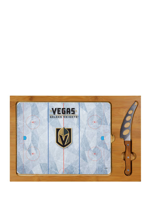 NHL Vegas Golden Knights Icon Glass Top Cutting Board & Knife Set