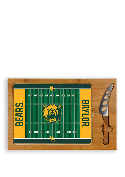 NCAA Baylor Bears Icon Glass Top Cutting Board & Knife Set
