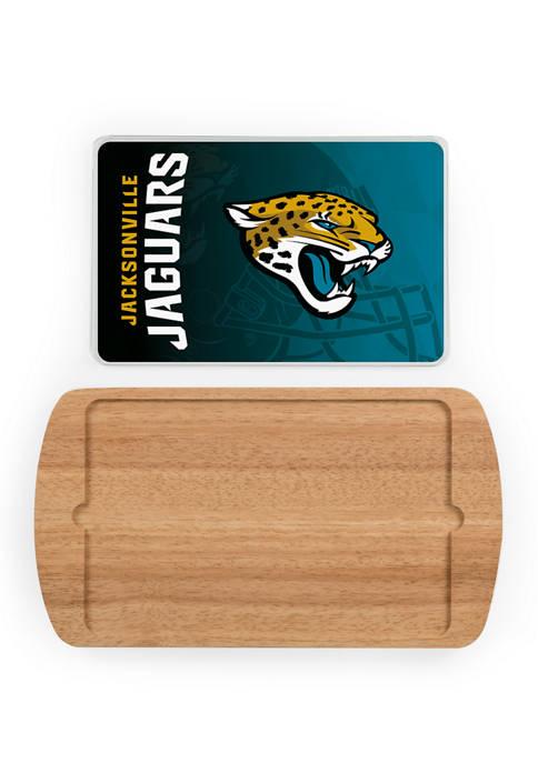 TOSCANA NFL Jacksonville Jaguars Billboard Glass Top Serving
