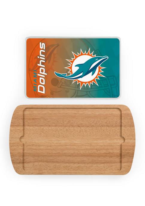 TOSCANA NFL Miami Dolphins Billboard Glass Top Serving
