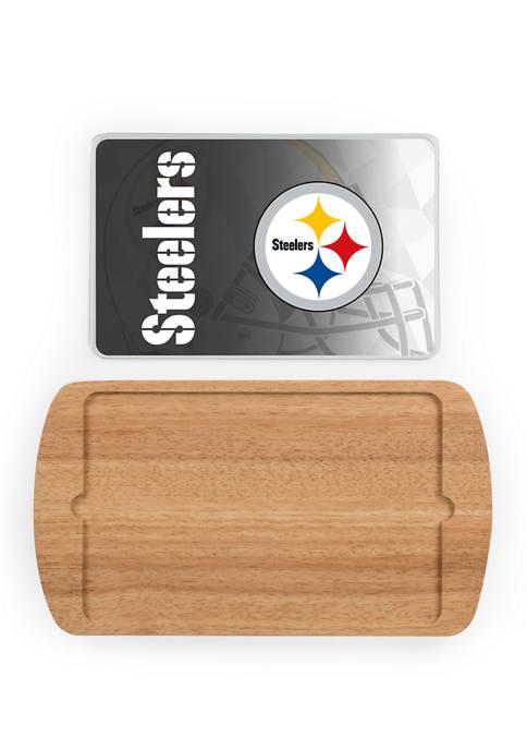 TOSCANA NFL Pittsburgh Steelers Billboard Glass Top Serving