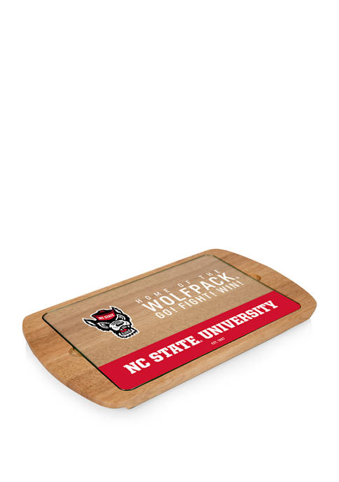 NCAA NC State Wolfpack Billboard Glass Top Serving Tray