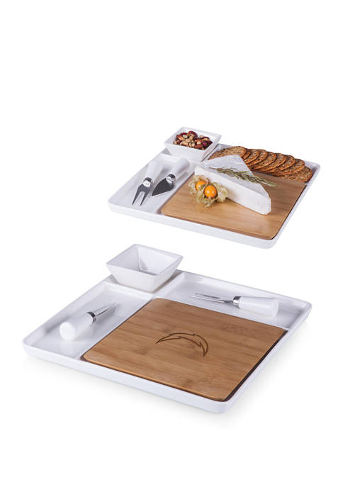 TOSCANA NFL Los Angeles Chargers Peninsula Cutting Board