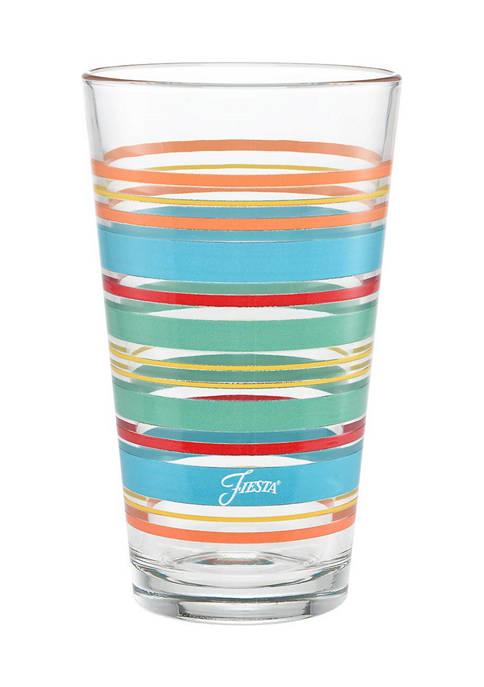 Fiesta® Rainbow Radiance Stripes 16-Ounce Highball Glass