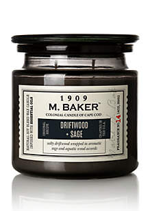 Carolina Candle 14 Ounce M. Baker Apothecary Candle - Driftwood and Sage