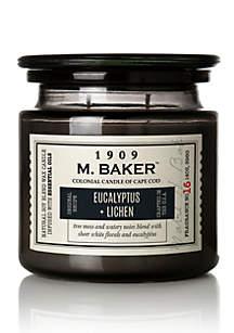 Carolina Candle 14 Ounce M. Baker Apothecary Candle - Eucalyptus and Lichen