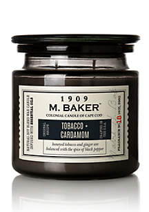 Carolina Candle 14 Ounce M. Baker Apothecary Candle - Tobacco and Cardamom