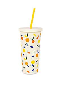 kate spade new york® Citrus Twist Tumbler with Straw