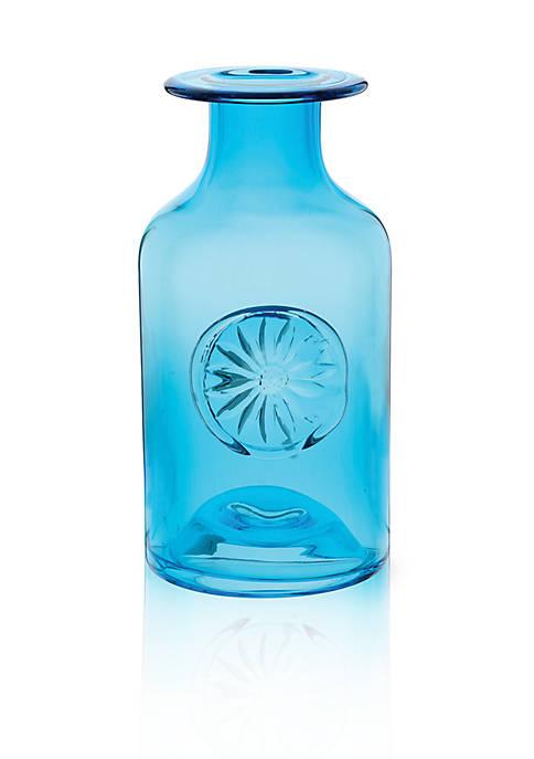 Dartington Crystal Daisy/Turquoise Medium Flower Bottle