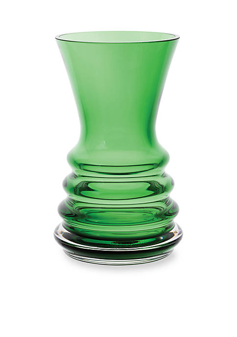 Dartington Crystal Little Gems Wibble Bottle Green Vase