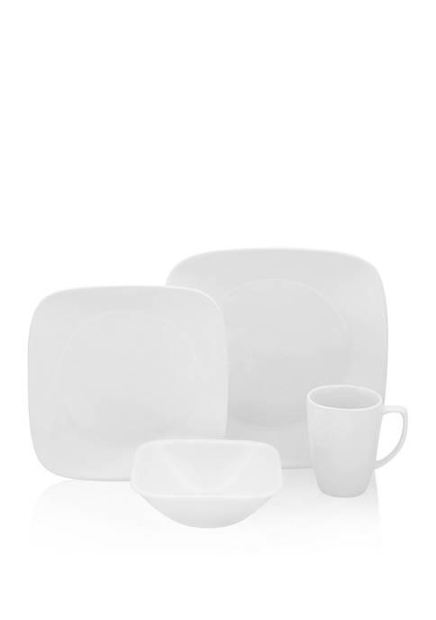 Corelle® Vivid White Square 16-Piece Set