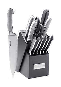 13-Piece Stainless Steel Cutlery Block Set