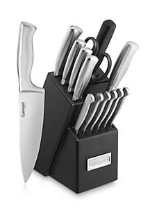 15-Piece Stainless Steel Hollow Handle Cutlery Block Set