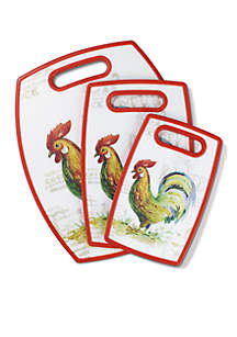 3-Piece Rooster Cutting Board Set