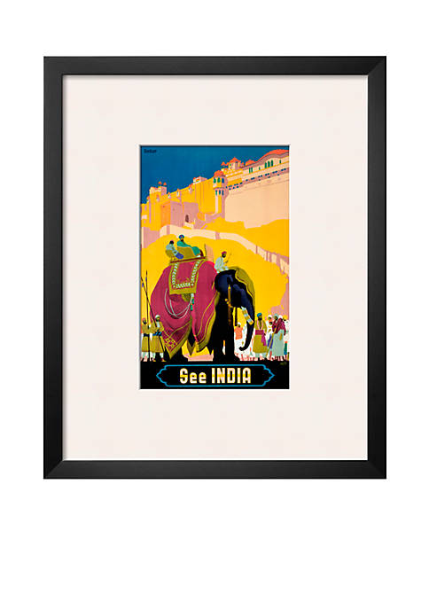 Art.com Indian State Railways: See India, Framed Art