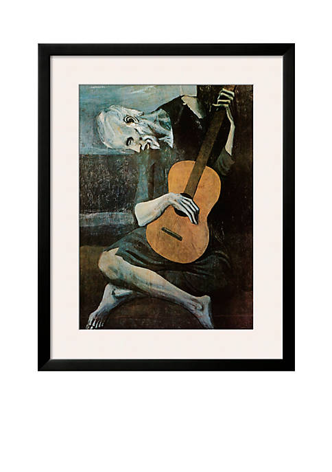 Art.com The Old Guitarist, c.1903, Framed Art Print,-
