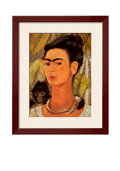 Art.com Self-Portrait with Monkey, 1938, Framed Art Print