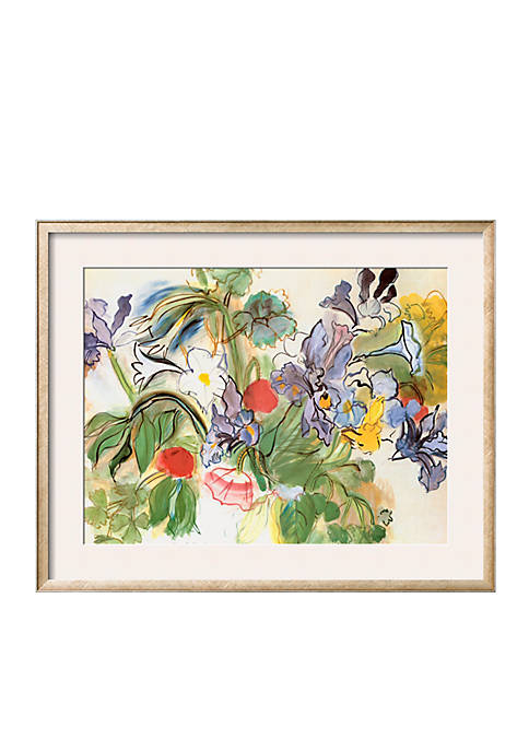 Art.com Poppies and Iris by Raoul Dufy, Framed