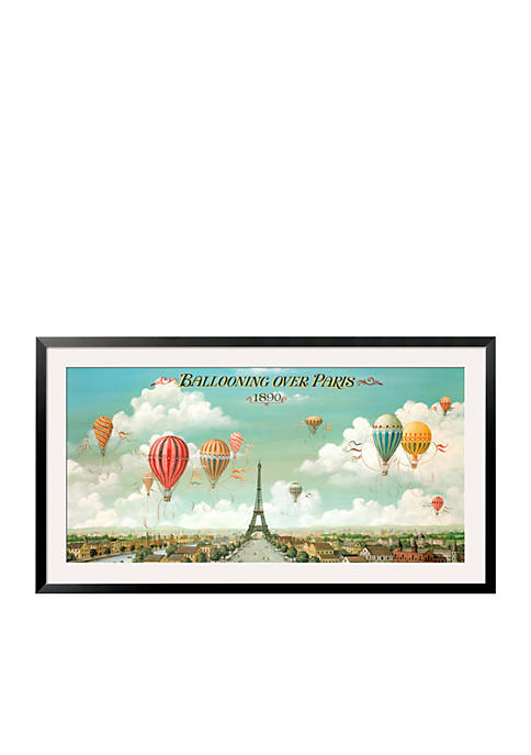 Art.com Ballooning Over Paris, Framed Art Print
