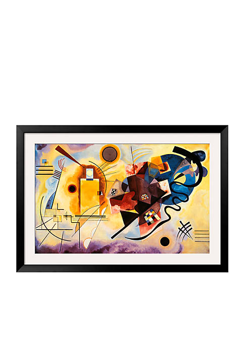 Art.com Yellow, Red and Blue, c.1925 Framed Art
