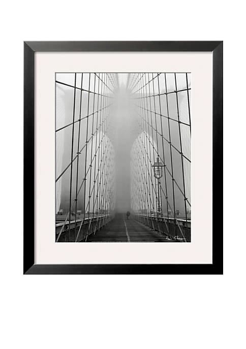 Art.com Foggy Day in Brooklyn Bridge Frame Art